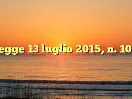 Legge 13 luglio 2015, n. 107